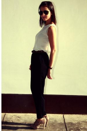 see through El clset de mi hermana blouse - Forever21 pants - suede Bershka heel