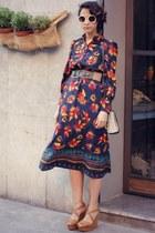 Sheinside dress - French Connection bag - romwe glasses - Zara sandals