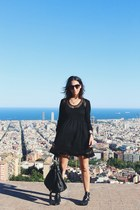 black Egus in Love boots - black Revolve Clothing dress - black asos bag