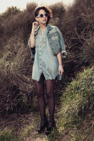 denim suiteblanco dress