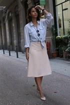 bubble gum midi Front Row Shop skirt