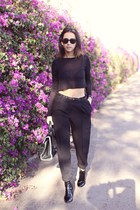 black pegleg asos pants
