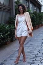 nude CATU SHOES boots - nude Ecugo blazer - nude H&M sunglasses