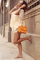 light orange tuni free people top - light orange Levis shorts
