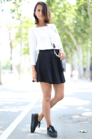 H&M skirt - Zara sweater - Superga sneakers