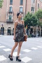 brown asos dress
