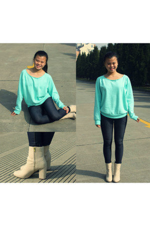 ankle boots H&M boots - Forever 21 sweater - H&M ring
