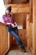 hand-made hat - dune boots - Mexx jeans - Henry Holland shirt