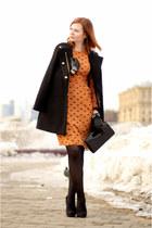 Mango coat - H&M boots - asos dress