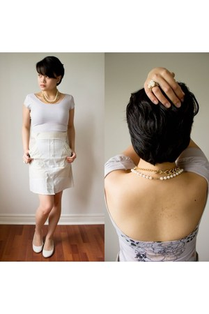 backless top Dynamite shirt - diy skirt Preloved skirt