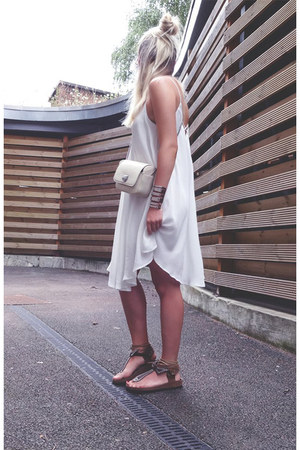 loose Sheinside dress - leather AlisonSmsn sandals