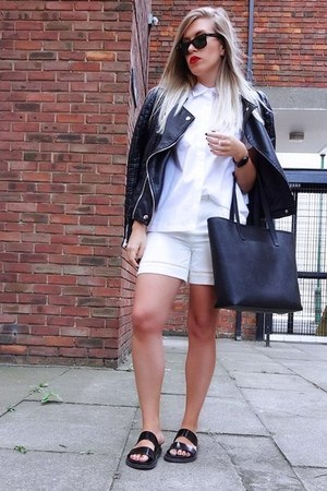 white cut out Front Row Shop shirt - Front Row Shop shorts