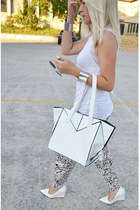 OASAP bag - asos sunglasses - H&M pants - Mango wedges - Zara blouse
