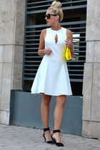 transparent Ebay bag - skater dress Hedonia dress - strappy Zara sandals