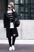 Choies boots - Choies coat - Sheinside sweatshirt