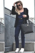jumpsuit lavish alice bodysuit - platforms Choies boots - hooded Choies coat