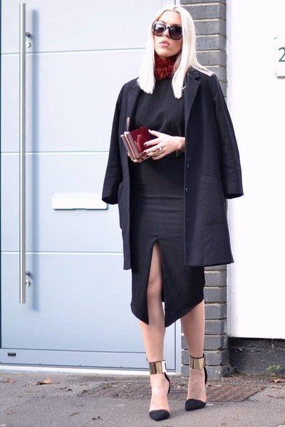 asos dress - Front Row Shop scarf - asos sunglasses - Nelly heels - asos belt