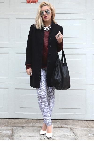 linked chain GINA TRICOT necklace - black polkadot Motel Rocks jeans