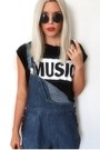 Dungaree-motel-rocks-shorts-asos-sunglasses-romwe-t-shirt