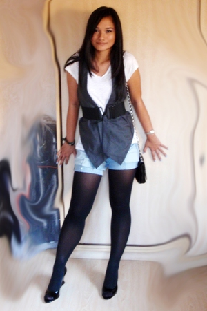 Old Navy t-shirt - Space vest - Guess shorts - No label tights - francesco shoes