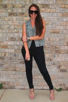 faux leather Express vest - Kelsi Dagger shoes - BDG jeans