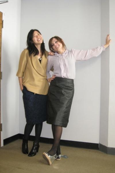 top - shoes - blazer - skirt