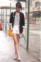 Zara blazer - Zara bag - Zara shorts