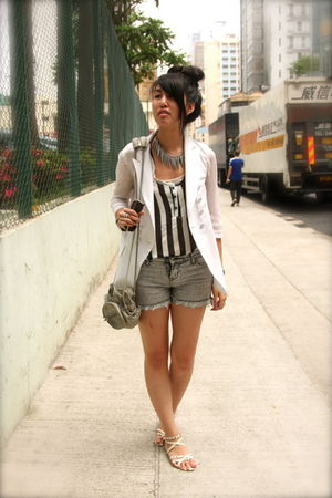silver random from Hong Kong accessories - white random from Hong Kong blazer -
