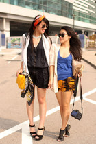 random from Hong Kong scarf - Zara bag - Zara romper