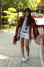 Red-random-from-hong-kong-scarf-white-zara-shoes-blue-forever-21-shorts-bl