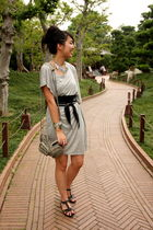 silver random from Hong Kong dress - black random from Hong Kong belt - silver r