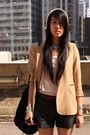 Cream-random-from-hong-kong-hat-beige-zara-blazer-black-zara-shorts-cream-