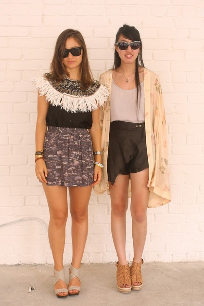 neutral natalie wood jacket - black One Teaspoon shorts