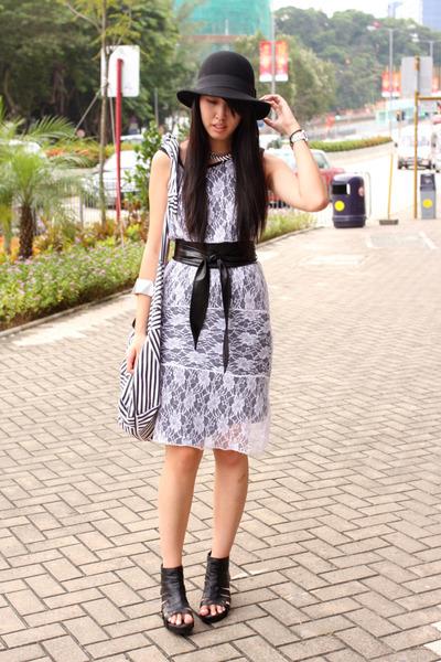 white random from Hong Kong dress - black random from Hong Kong shoes - silver a