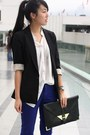 Black-cotton-on-boots-blue-forever-21-jeans-black-zara-blazer-white-random