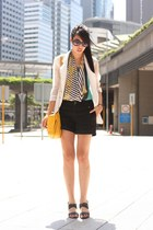 turquoise blue Hong Kong top - gold Zara bag - black Zara shorts