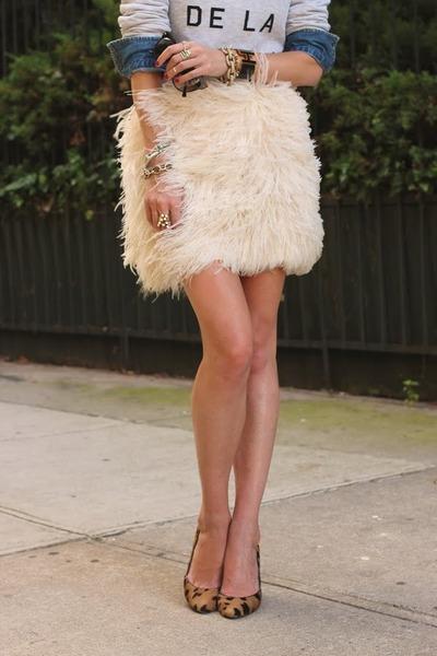 sweatshirt - feathers skirt