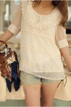 beige chiffon blouse