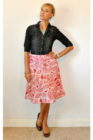 red Burlington coat factory skirt - navy Love Stitch shirt