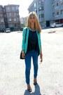 Mint-pimkie-jacket-bershka-leggings-carrera-sunglasses-black-zara-sandals