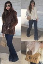 dark brown similar thrifted vintage jacket - navy JBrand jeans