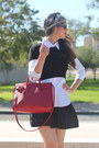 Black-laundry-by-shelli-segal-sweater-ruby-red-leather-yves-saint-laurent-bag