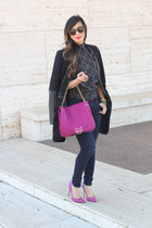 pink olivia & joy bag - navy Loft jeans - black similar ashley B jacket