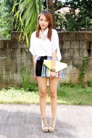 Bubbles bag - The Vaintage Shoppe boots - lace shorts Clothepedia shorts
