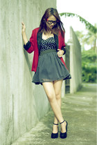black wedges Asian Vogue wedges - red Clothepedia blazer