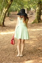 ruby red satchel Ted Baker via Nordstorm Rack bag - aquamarine Topshop dress