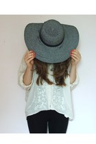 white H&M shirt - Primark hat - black Topshop leggings