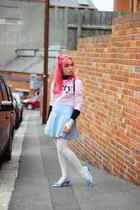 light blue knit Primark skirt - pink Zara sweater