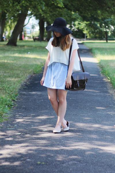 collar Monki shirt - fedora felt Primark hat - Zatchel bag