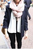 H&M scarf - vintage blazer - Primark shirt - H&M bag
